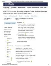 Chfd220 human sexuality