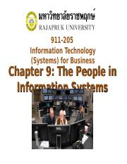 Chapter 9 The People in Information Systems.ppt