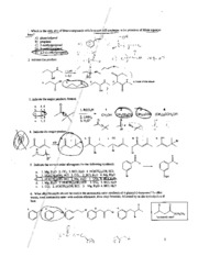 Organic Chem II Spring 2009 Test 3