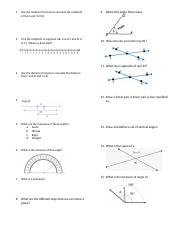 Fall Geometry Midterm Study Guide