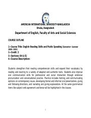 English Reading and Public Speaking Course Outline.doc