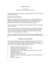 CCEV 113 Intro to Problem Solving Study Guide
