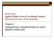 CONCEPTUAL FOUNDATIONS OF COST-BENEFIT ANALYSIS