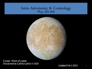 Astronomy & Cosmology Lecture Notes - Historical Overview
