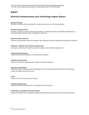 Business Requirements and Technology Impact Report Template.docx