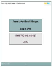 FNFM_Lesson 2_Profit and Loss Account_V1.0