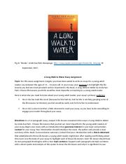 A Long Walk to Water Essay Assignment (1).docx
