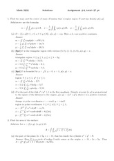 MATH 3202 Spring 2013 Assignment 4 Solutions