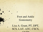 Foot Ankle Gonio