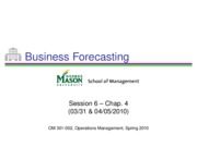 Session 6 - Forecasting