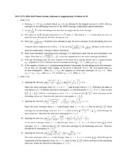 Supplementary Problem Set 3(Solution)