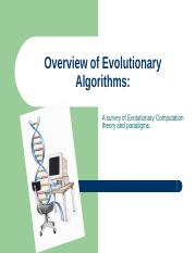 Overview of Evolutionary Algorithms
