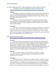 Group Multimedia Project-Athletic Facilities -  Final Annotated Bibliography