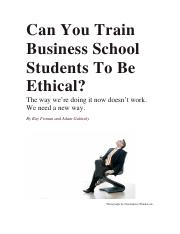Can You Train Businss School Students.pdf
