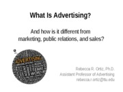 ADV 3310 - What is Advertising