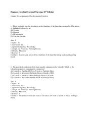 Chapter 26- Assessment of Cardiovascular Function