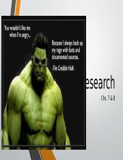 7. Research