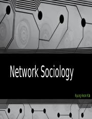 Network Sociology