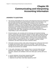 Chapter 05: Communicating and Interpreting Accounting Information