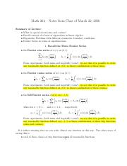 MATH 264 EIGAN FUNCTIONS notes-March-22
