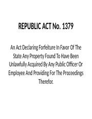 B3 RA 1379 - 1955 Forfeiture of Property