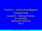 24709_Lecture06 Informed Search (Part 2)