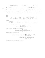 Math 2132 Test 2 June 2014