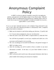Anonymous Complaint Policy.docx
