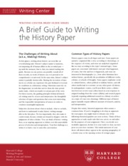 a brief guide to writing the english paper Compiled by lauren seidenschmidt february 2012 a brief guide to writing literary research papers most academic, literary research papers follow the mla citation guidelines.