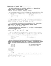 PHY 205 Exam 3 Spring 2014