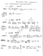 MTH 140 Calculus Exam -Solutions