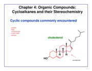 Chapter 4 - Cycloalkane Structure & Stereochemistry