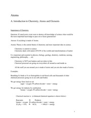 Lecture Notes C on General Chemistry