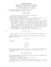 MATH 401 Winter 2015 Assignment 2 Solutions