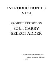 carry select adder summary.docx