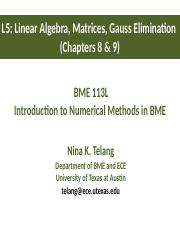113L_L5_Linear Algebra_Matrices_Gauss Elimination