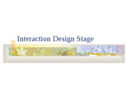 Interaction Design Stage