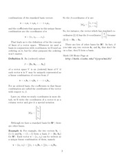 Math 130 Linear Combination Notes