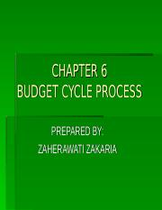 CHAPTER 6 BUDGET PROCESS