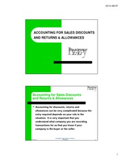 Accounting for Sales Discounts _ Returns _ Allowances Topic Slides