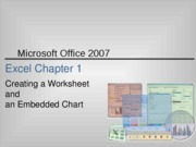 Excel 2007 Chapter 1