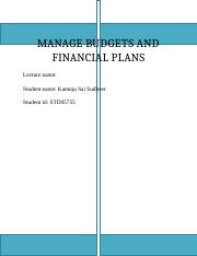 MANAGE BUDGETS AND FINANCIAL PLANS-assingment3.docx