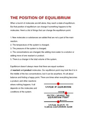 The Position of Equilibrium