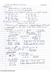 Absolute Extrema Notes