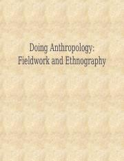 3 Fieldwork and Ethnography