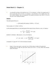 Home Work 11 Solutions