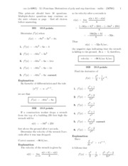 3.1 Postclass-  Derivatives of poly and exp functions-solutions