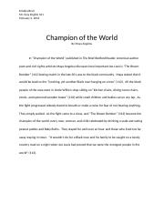Champion of the World.docx