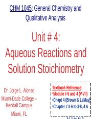 Unit.04.Aqueous Reactions and Solution Stoichiometry.Lecture