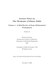 ElasticSolids-Vol.1-Math